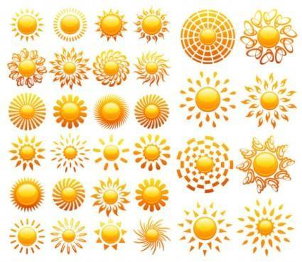 Crystal icon vector of the sun