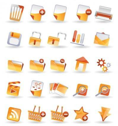 25 practical icon vector