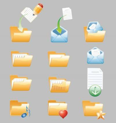 free vector Folder icon vector cute