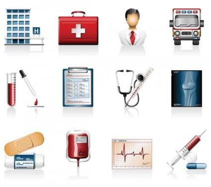 free vector Hospital icons vector