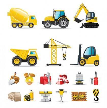 Builders icon vector