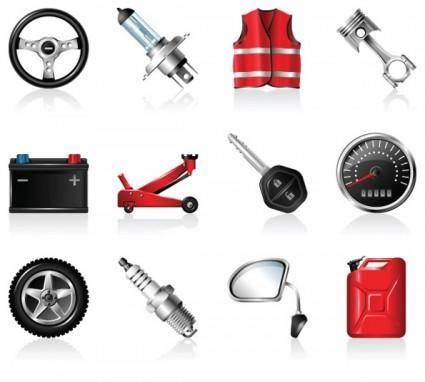 free vector Automotive accessories icon vector