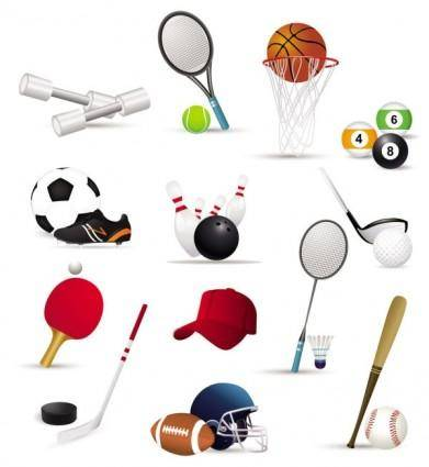 free vector Sportsrelated icons 02 vector