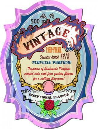 free vector Vintage wine label collection 03 vector