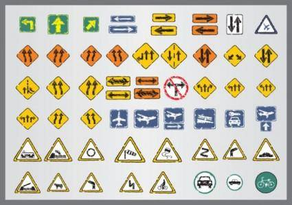 Old traffic signs icon 02 vector