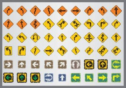 free vector Old traffic signs icon 04 vector
