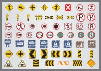 free vector Old traffic signs icon 05 vector