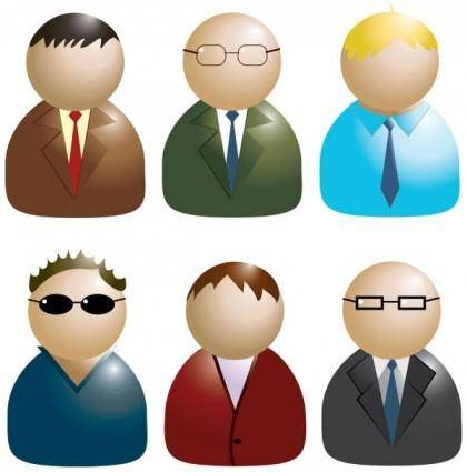 free vector Business people icon 02 vector