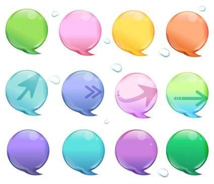 free vector Beautiful icons vector