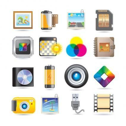 free vector Exquisite technology icon vector