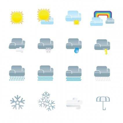 free vector Fine weather icon 02 vector