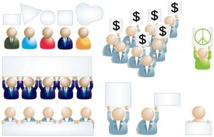 Business people icon 01 vector