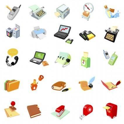 free vector Vector office supplies icon