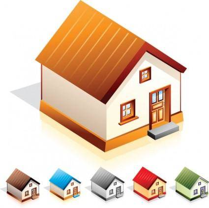 free vector Small house icon vector