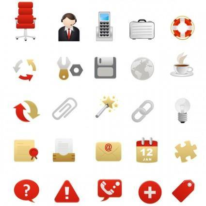 free vector 2 red theme icon vector