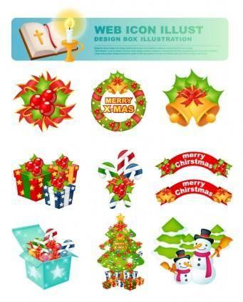 free vector Christmas icon vector