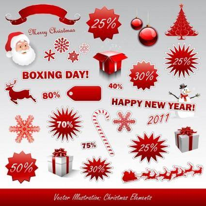 2011 new year christmas icon vector
