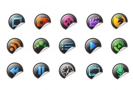 Roll angle of exquisite icons vector
