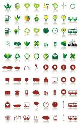 80 simple icon vector