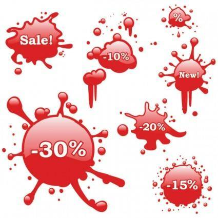 free vector Bleeding discount icon vector