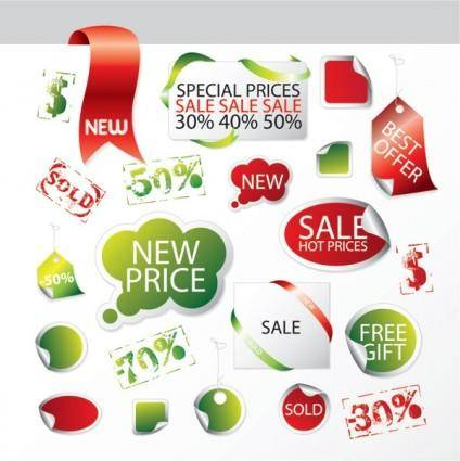 free vector Discount sale of decorative and practical icon vector elements