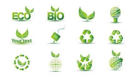 free vector Green Eco Icon Set