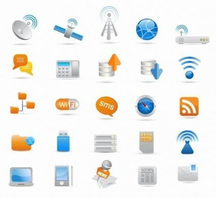 free vector Wireless and Communication Icon Set