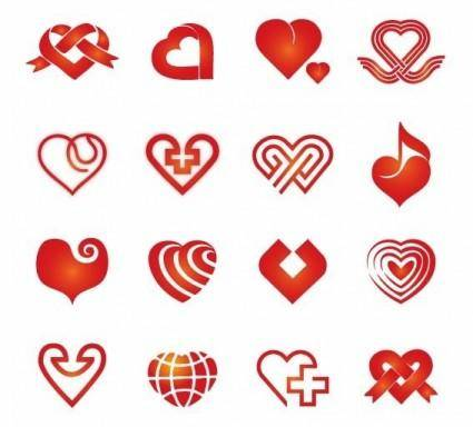 Collection of Vector Hearts