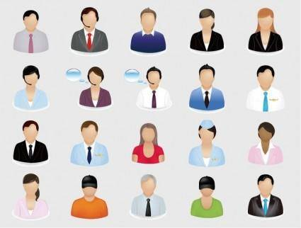 free vector Business People Vector Icon Set