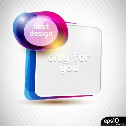 Colorful speech bubble 01 vector
