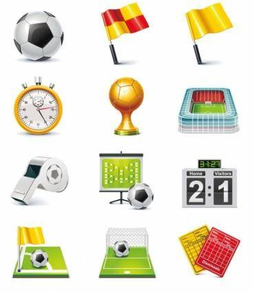 free vector Football Match Vector Icon Set