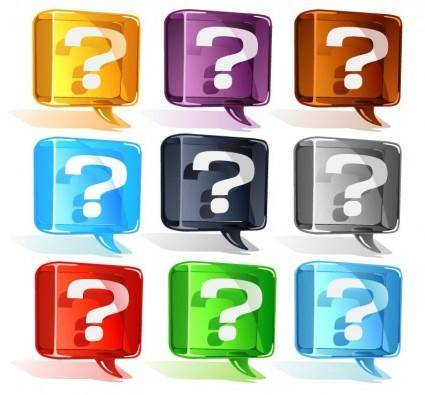 free vector Colorful Question Mark Vector Set