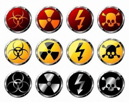 free vector Round Radiation Warning Vector Graphics