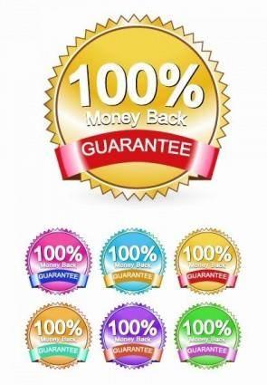 free vector Money Back Guarantee Label Vector Set