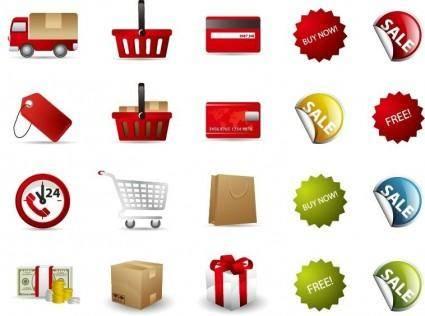 free vector Shopping Vector Icon Set