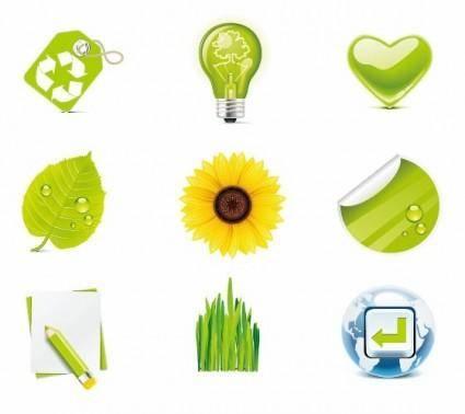 Green Eco Vector Icons