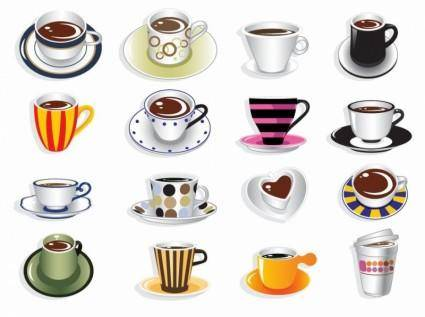 free vector Coffee Cup Vector Set