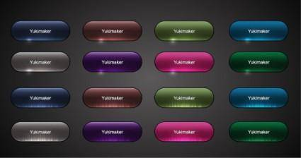 free vector Crystal texture button vector