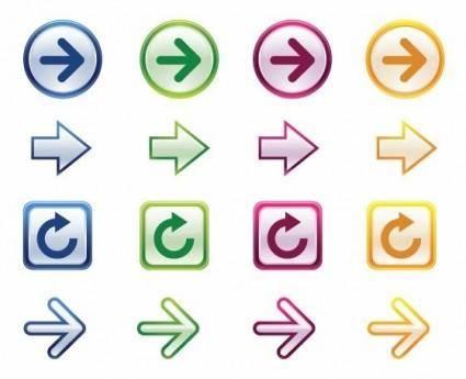 free vector Colorful Arrows Vector Set