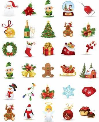 Christmas Elements Vector Collection