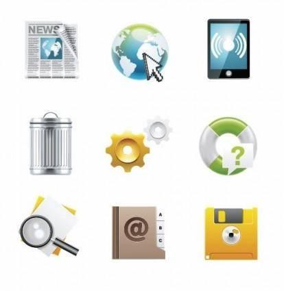 free vector Desktop Vector Icon Set