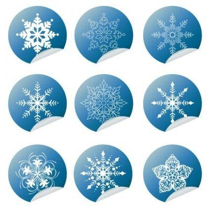 free vector Snowflake Winter Set Vector