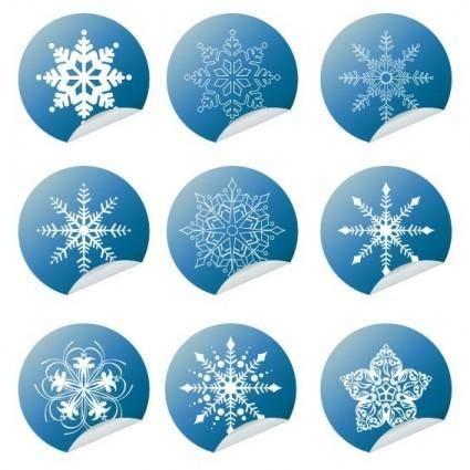 free vector Snowflake Winter Set Vector