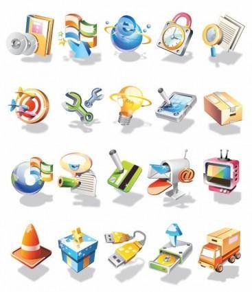 free vector Vector 3D Icon Set