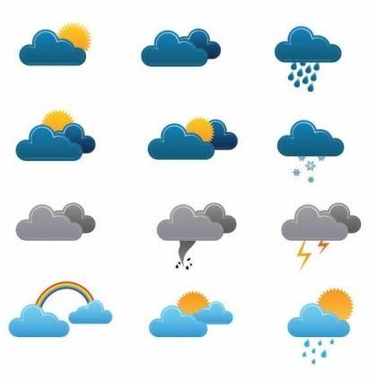 free vector Free Weather Vector Icons