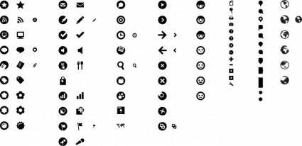 free vector Free Simple Style Black Vector Icon Set
