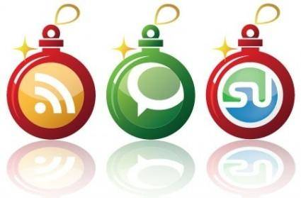 free vector Free Early Christmas Social Networking Vector Icons