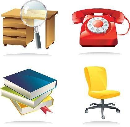 free vector 4 Office Related Vector Icons