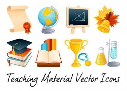 Teaching Vector Material Icons – Vol 1