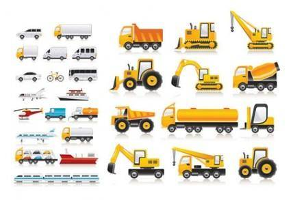 free vector Vector Transport Vehicle Icons